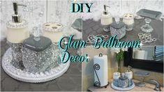 Diy Home Decor Bathroom Organizing Towels Trendy Ideas Diy Mirror Decor, Bathroom Mirror Design, Diy Bathroom Decor, Bathroom Ideas, Bling Bathroom, Decorating Bathrooms, Vanity Bathroom, Wall Mirror, Modern Bathroom