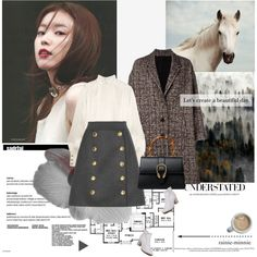 Let's create a beautiful day.[I'm Back] by rainie-minnie on Polyvore featuring Pierre Balmain, Neil Barrett, Dolce&Gabbana, WithChic and Gucci