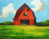 Landscape Barn painting 173 inch original oil painting by Roz Abstract Landscape, Landscape Paintings, Barn Paintings, Acrylic Paintings, Red Barn Painting, Wine And Canvas, Solis, Barn Art, Painting Techniques