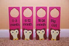 Love this, might get! Owl Nursery Closet Dividers. $20.00, via Etsy.