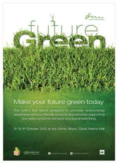 Dubai Marina Mall Advertising - Future Green ´13 on Behance