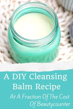 This cleansing balm DIY recipe is just like the Beautycounter variety but at a tiny fraction of the price! This recipe will show you how to make a Beautycounter cleansing balm copycat that helps to remove makeup and moisturize your skin! Homemade Skin Care, Homemade Beauty Products, Diy Skin Care, Skin Care Tips, Diy Products, Face Products, Beauty Routine Checklist, Beauty Routines, Natural Beauty Tips