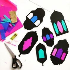 "Salaam Aleikum, I'm so happy to share this template with you for Ramadan crafts, with or without kiddos ;). Cut out the shape with scissors or x-acto knife (use the knife for the ""windows"", it is r..."