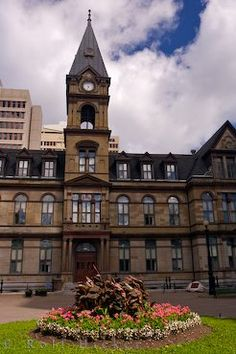 Construction of the City Hall building began in August 1888 and by May the first council meeting took place in the new building situated in Grand Parade in downtown Halifax, Nova Scotia. O Canada, Canada Travel, Nova Scotia, Quebec, Atlantic Canada, Alaska, Second Empire, Newfoundland, Travel Destinations