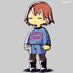 UT fanart - Frisk the human child