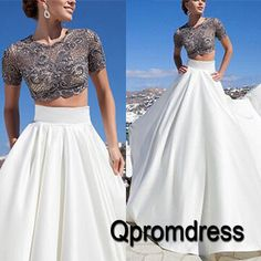 Beautiful two pieces prom dress, prom dress 2016 #coniefox #2016prom