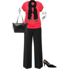 Plus Size Work Outfit, Plus Size Career Fashion by jmc6115 on Polyvore featuring maurices, Kay Unger New York, Michael Kors, WorkWear, plussize and careerwear