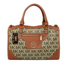 Cheap Michael Kors Logo Signature Large Beige Satchels, Perfect You Michael Kors Satchel, Cheap Michael Kors, Michael Kors Outlet, Handbags Michael Kors, Mod Fashion, Fashion Heels, Fashion Bags, Womens Fashion, Teen Fashion