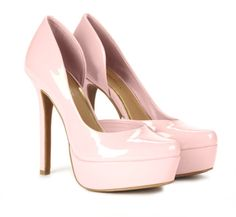Glossy Pink Pumps.