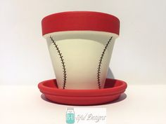 Baseball Party Decor Centerpiece Birthday Party Baby Shower Planter by BUtifulDesigns on Etsy https://www.etsy.com/listing/226005918/baseball-party-decor-centerpiece