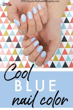 Do you need an easy nail design idea for your nails? Treat yourself to a cool blue nail look with Aspen Sky, a pale periwinkle blue, the perfect cool blue for your nails! This fun, bright, and bold nail polish is made for sunny winter days and cool fall nights. Get cute and classy nails at home with Color Street. #simplenailartdesigns #prettynailartdesigns #bestnailartdesigns
