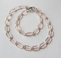Kristall-Kette  rosa-weiß von soschoen auf DaWanda.com