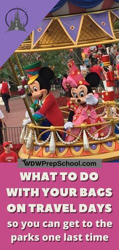 If you have a late flight home you may want to spend every last minute you can at one of the parks at Disney World - but what do you do with your bags? We can help! Disney World Planning, Disney World Vacation, Disney Vacations, Disney Travel, Dream Vacations, Disney World Tips And Tricks, Disney Tips, Disney Parks, Walt Disney
