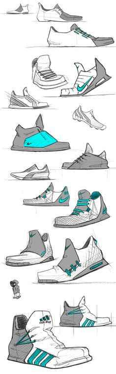 Shoes sketches by Julien FESQUET / ISD