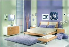 Violet Bedrooms Purple Dormitories Lilac Rooms Ideas To Decorate Blue Bedroom Decor