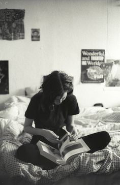 This is me.. every morning. every night... sitting on my bed, reading. =)