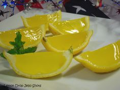 """Lemon Drop Jello Shots   Maybe these will help win the """"games"""" that will be played:)"""
