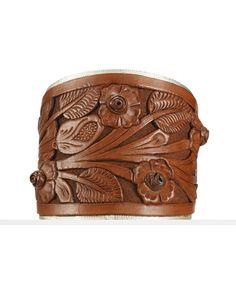 Tooled-Leather Cuff - Ralph Lauren Bracelets - RalphLauren.com