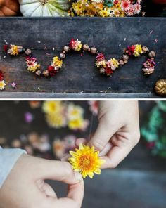 Easy DIY Decorations: Make Garland from Fall Flowers | Apartment Therapy
