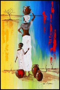 Fine Art Portfolio represents established (since South African Art Galleries & Artists African American Artwork, African Artwork, African Art Paintings, Crayons Pastel, Afrique Art, African Crafts, South African Artists, Art Africain, Black Artwork