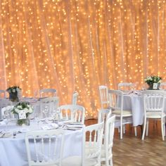 lighted tulle table swag for wedding | backdrops create an impressive backing either behind your top table ...
