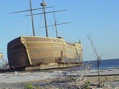 Treasure Bay, Biloxi, Mississippi, Post-Katrina 2005 Hurricanes And Tornadoes, Gulfport Mississippi, Hurricane Damage, Ocean Springs, Battle Ships, Hurricane Katrina, In The Tree, Best Places To Travel, Tsunami