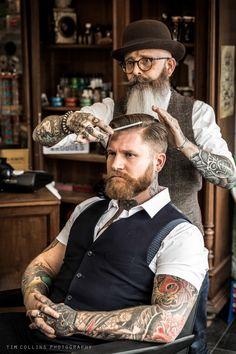 Gentleman & Rogues Club Barbershop on Behance Barber Shop Interior, Barber Shop Decor, Hair Cut Guide, Shaved Hair Cuts, Hot Guys Tattoos, Master Barber, Barbershop Design, Beauty Salon Design, Man Photography