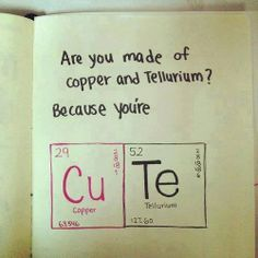 When chemists express their love.  Too funny.
