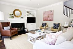 """Our family room before/after — STUDIO MCGEE  Silver Drop"""" by Behr at Home Depot"""