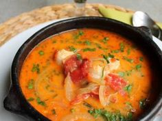 Chilean Recipes, Chilean Food, Chili, Slow Cooker Soup, Thai Red Curry, Stew, Soup Recipes, Seafood, Lunch