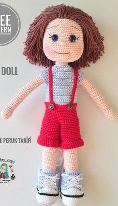 Amigurumi Baby Recipe Free - Amigurumi B Amigurumitar - Diy Crafts - DIY & Crafts Crochet Dolls Free Patterns, Crochet Doll Pattern, Amigurumi Patterns, Cute Crochet, Crochet Toys, Arm Knitting Tutorial, Chunky Knit Yarn, Yarn Dolls, Halloween Patterns