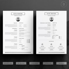 Minimalist Resume Template & Cover Letter Icon Set for