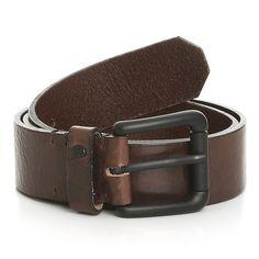 Carington Branded Rivet Leather Belt // Brown (32)