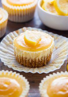 Lemon Ricotta Cheesecake Cupcakes