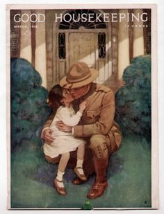 Jessie Willcox Smith Good Housekp Cover 1918 WWI Soldier Kisses Daughter Goodbye | eBay