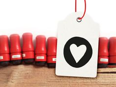 Mini Heart Rubber Stamp by winklerin on Etsy