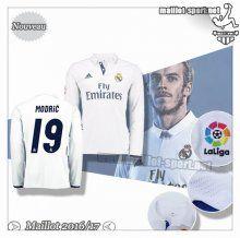 Maillots-Sport: Créer Un Maillot Foot Real Madrid Manche Longue Modric 19 Domicile 2016 2017
