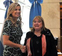 La canciller Susana Malcorra recibió en su despacho a la reina de los Países Bajos, Máxima. Foto: Télam