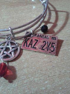 Supernatural Inspired Bangle Bracelets di FollowTheGrace su Etsy