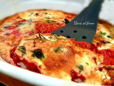 uova al forno I Love Food, Good Food, Yummy Food, Egg Recipes, Cooking Recipes, Healthy Recipes, My Favorite Food, Favorite Recipes, Brunch