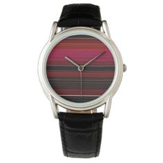 Rich Red Wine Ombre Design Watch - pattern sample design template diy cyo customize