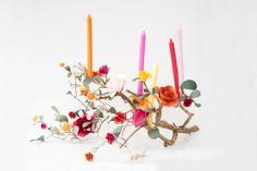 paper flower branch candelabra from @brittany watson jepsen