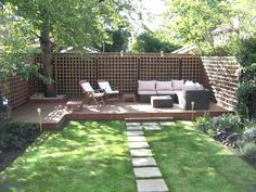 Search out and capture the beautiful backyard patio design ideas at Architectures Ideas. Craft your own relaxing place with these backyard patio design. Small Backyard Gardens, Small Backyard Landscaping, Small Gardens, Backyard Patio, Landscaping Ideas, Patio Ideas, Pool Ideas, Small Patio, Backyard Designs