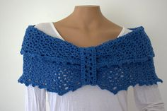 Blue Shaw by SweetNothingsStitch on Etsy, $15.00