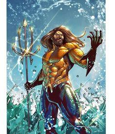 🔱 Jason Moymoa as Aquaman - Leonardo Paciarotti Aquaman Injustice, Aquaman Dc Comics, Aquaman 2018, Black Panther Images, Mera Dc Comics, Jason Momoa Aquaman, Drawing Superheroes, Univers Dc, Superhero Design