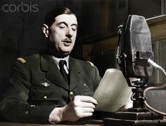 World War II. The general Charles de Gaulle in the studio of the BBC at London (England). On June 18th, 1940.