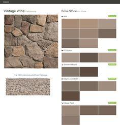 White oak country ledgestone cultured stone boral stone - Sherwin williams exterior textured paint ...