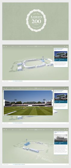 To celebrate the Bicentenary of Lord's Cricket Ground, Territory's team of 3D artists, animators, and developers created an interactive timeline that explores the architectural heritage of the ground in 3D.
