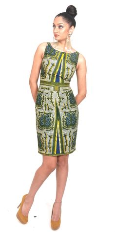 African Print: Ms. Tutted Arike Dress at Styles Afrik.
