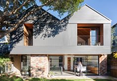 Tribe Studio Architects are one of the most inspiring and awarded Australian practices of its generation, known for artful, intelligent and sustainable work. Norfolk Pine, Hip Roof, The Neighbourhood, Brick, Exterior, Cabin, Traditional, Studio, Architecture